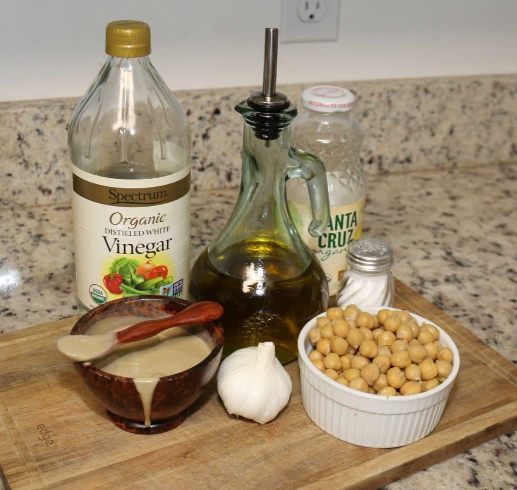 Vegan Lobster Roll hummus ingredients