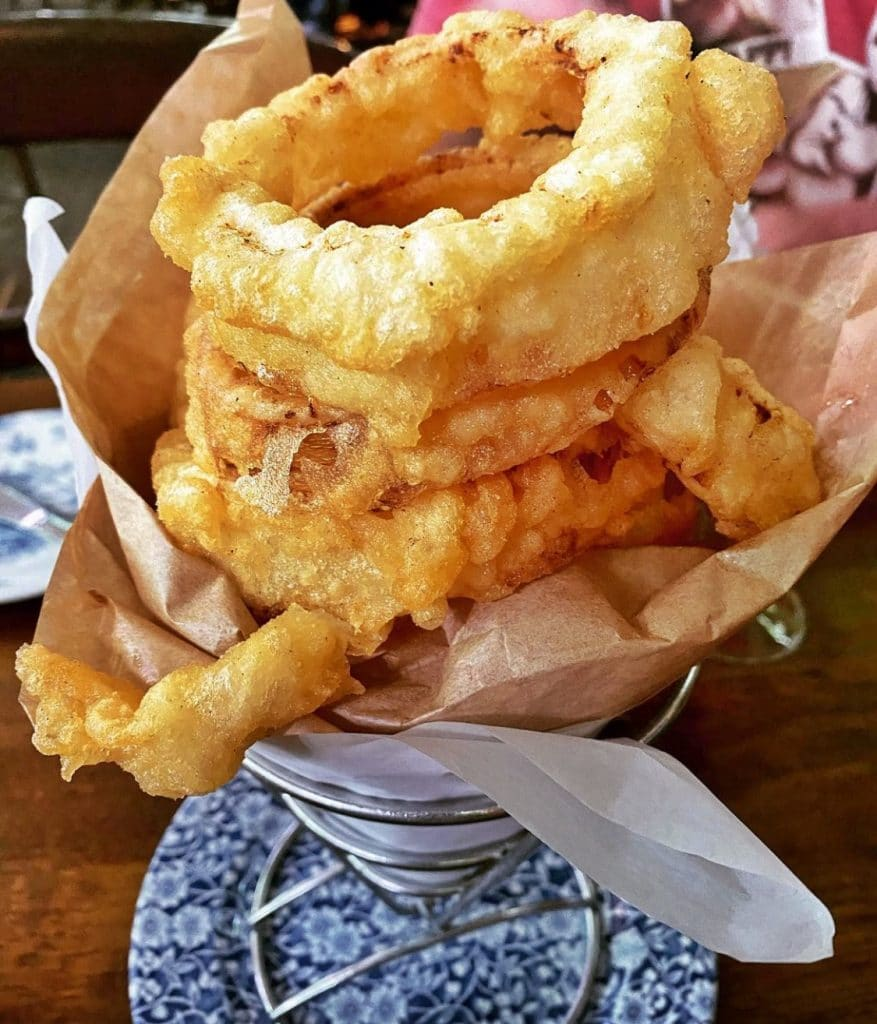 Raglan Road vegan onion rings