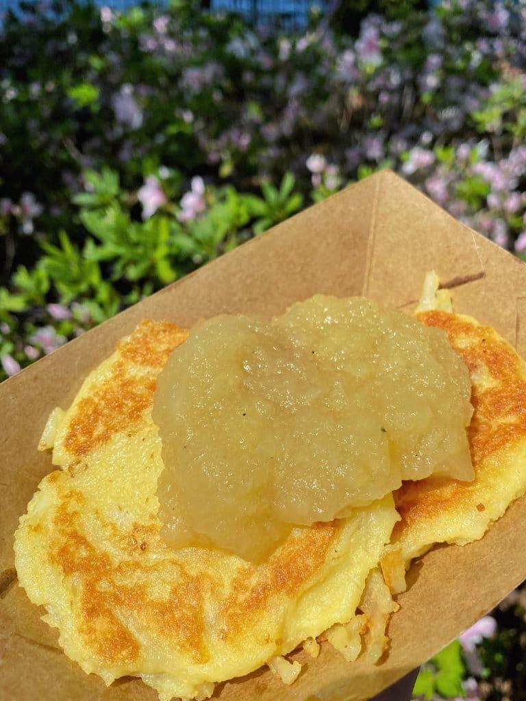 Potato pancake flower and garden