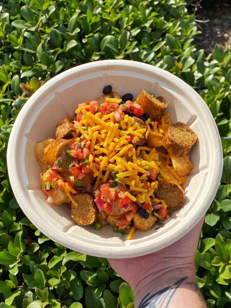 Plant based fried yucca bowl