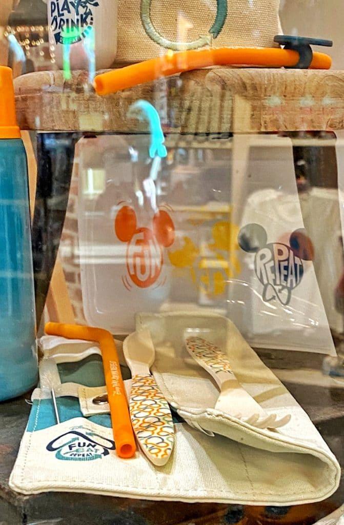 Disney Reusable merch line utensil and straw kit