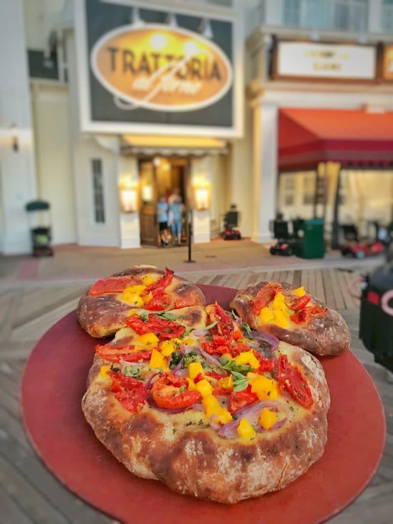 Mickey Shaped vegan pizza Trattoria al Forno