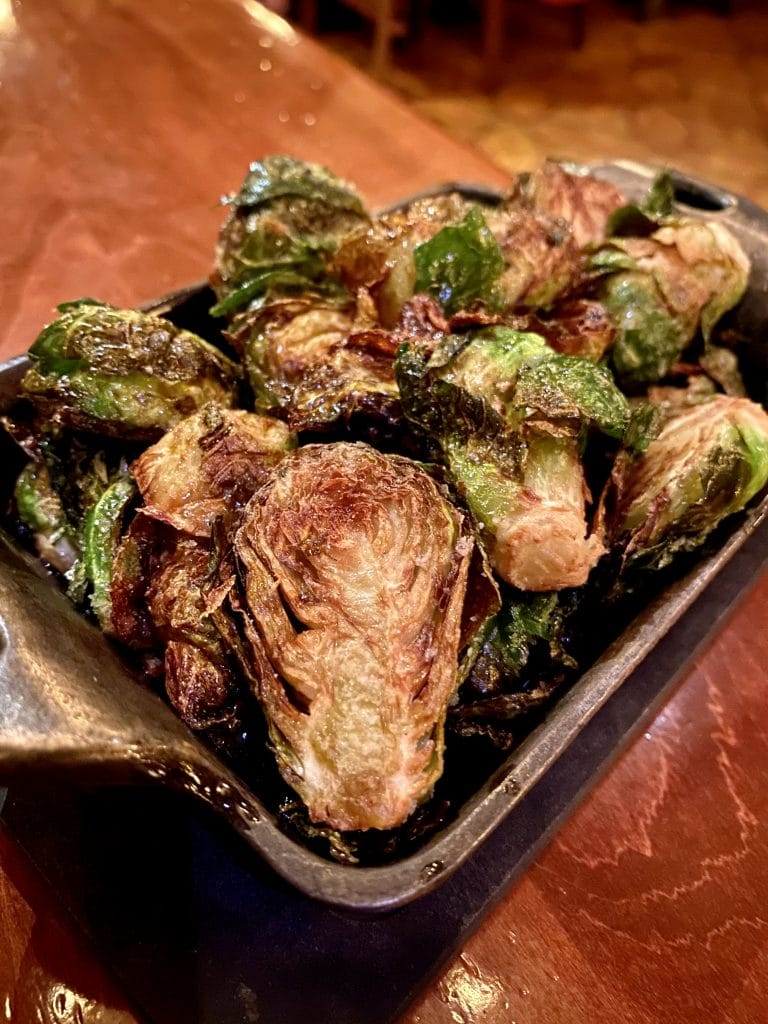 vegan Whiskey Maple Brussels Sprouts Le Cellier