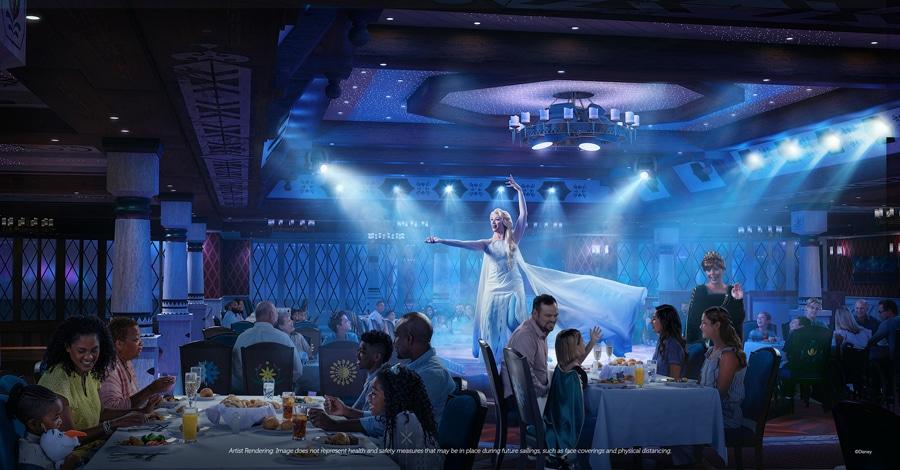 Arendelle Frozen Dining vegan Disney Wish