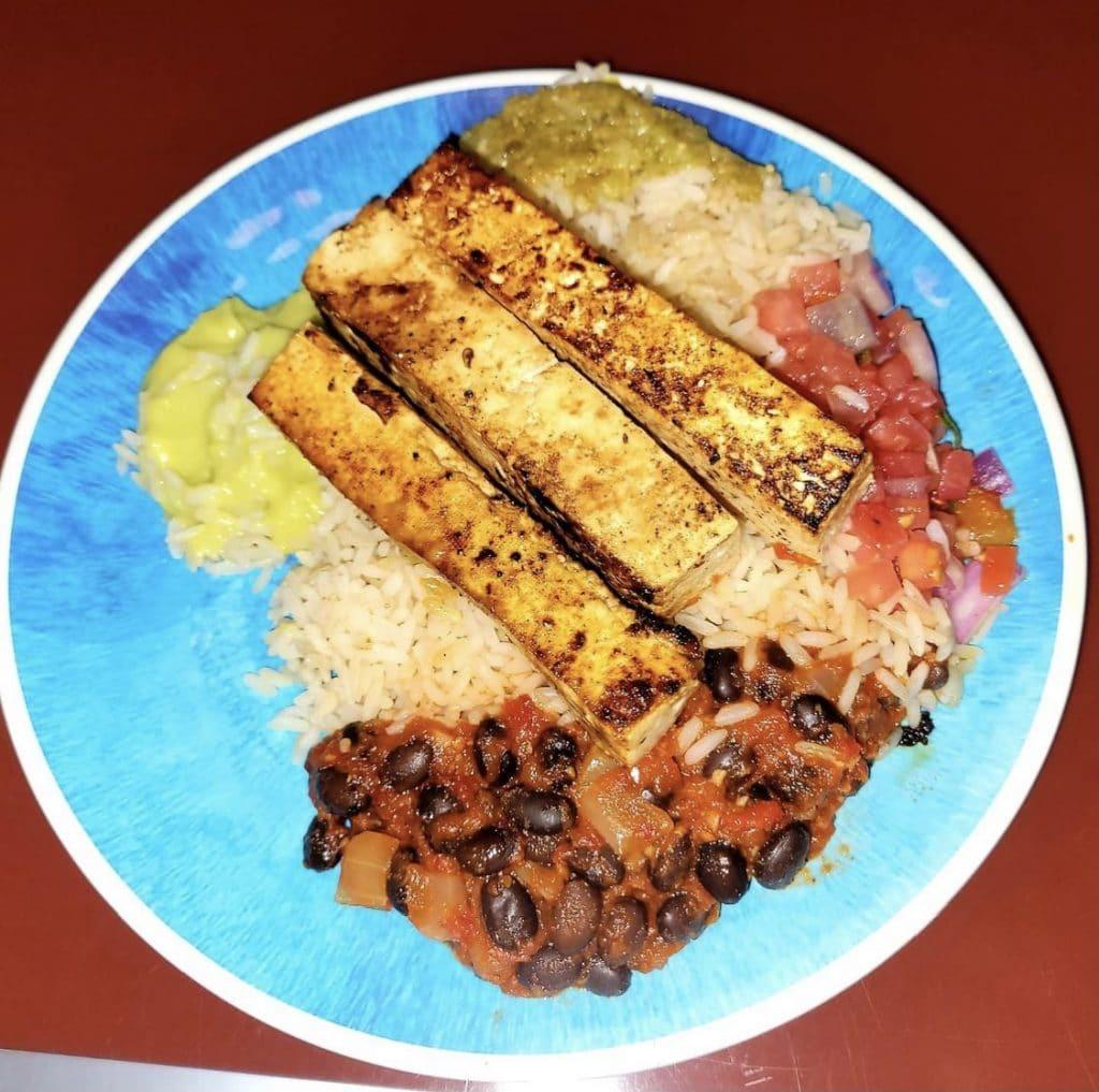 vegan tofu bowl Chef Mickeys