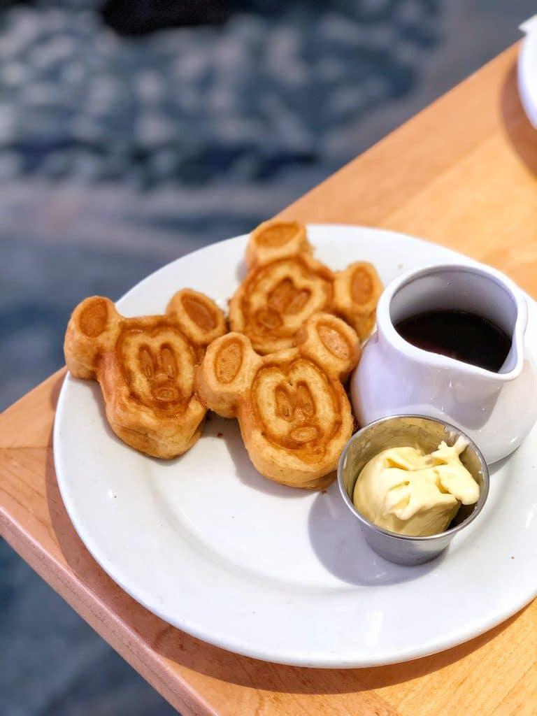 Cape May Cafe vegan Mickey waffles