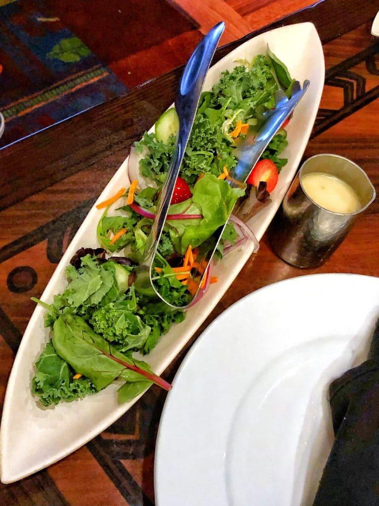 Vegan Disney Food Review: Dinner at 'Ohana in Disney's Polynesian Village Resort salad