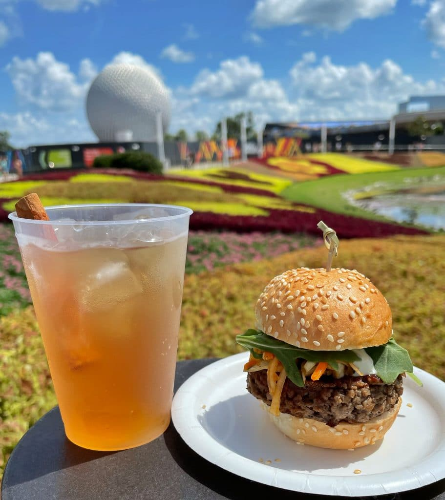 Vegan Impossible Slider at the 2021 Epcot Food and Wine Festival