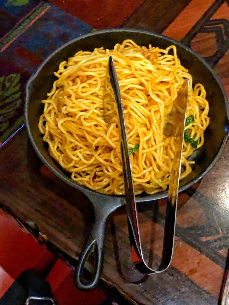 Vegan Disney Food Review: Dinner at 'Ohana in Disney's Polynesian Village Resort Noodles