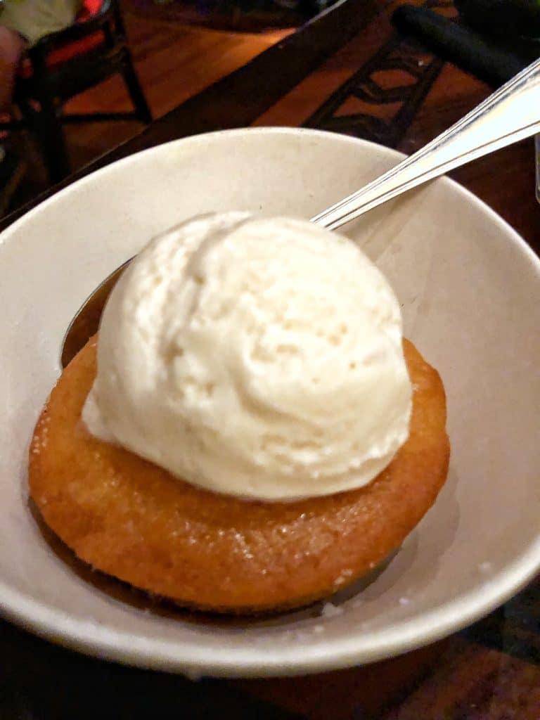 Vegan Disney Food Review: Dinner at 'Ohana in Disney's Polynesian Village Resort dessert
