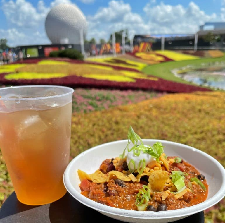 Vegan Impossible 3 Bean Chili at the 2021 Epcot Food and Wine Festival