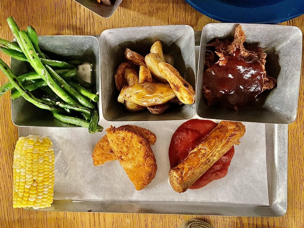 Vegan dinner Trails End
