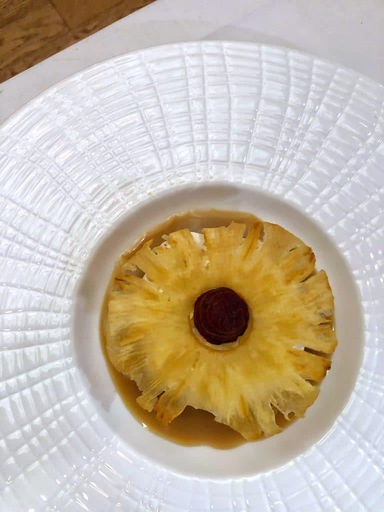 vegan pineapple coconut tart Yachtsman