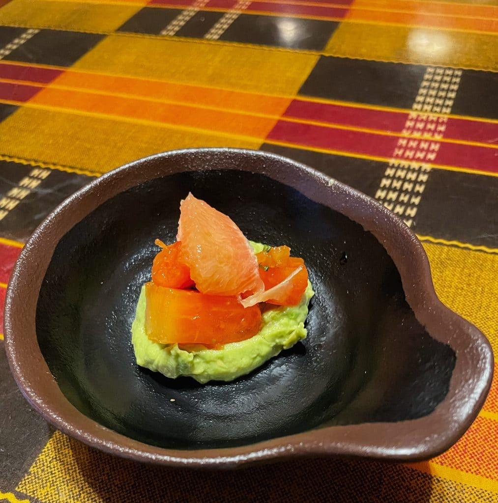 vegan Boma dinner papaya avocado