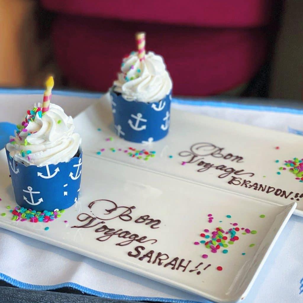 Disney Cruise Line vegan cupcakes