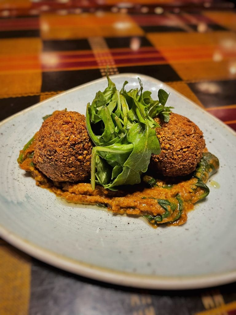 vegan Boma dinner falafel