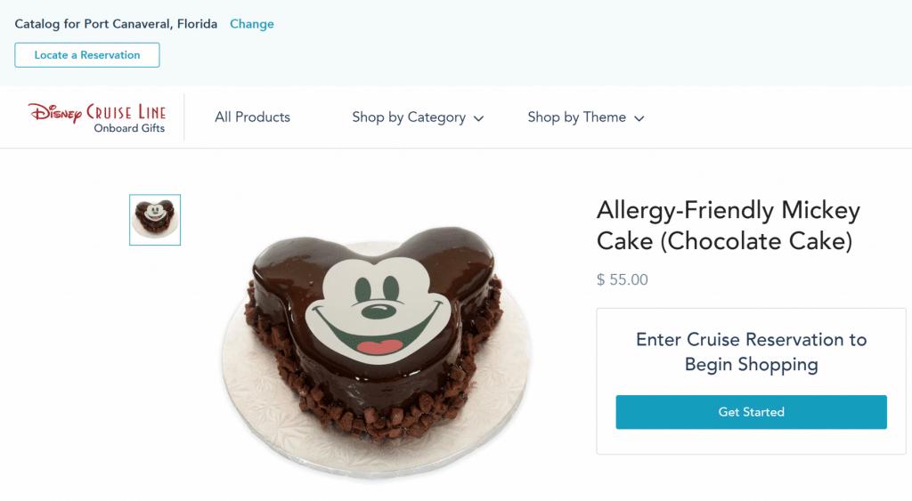 Vegan Allergy-friendly Mickey Cake Disney Cruise Line