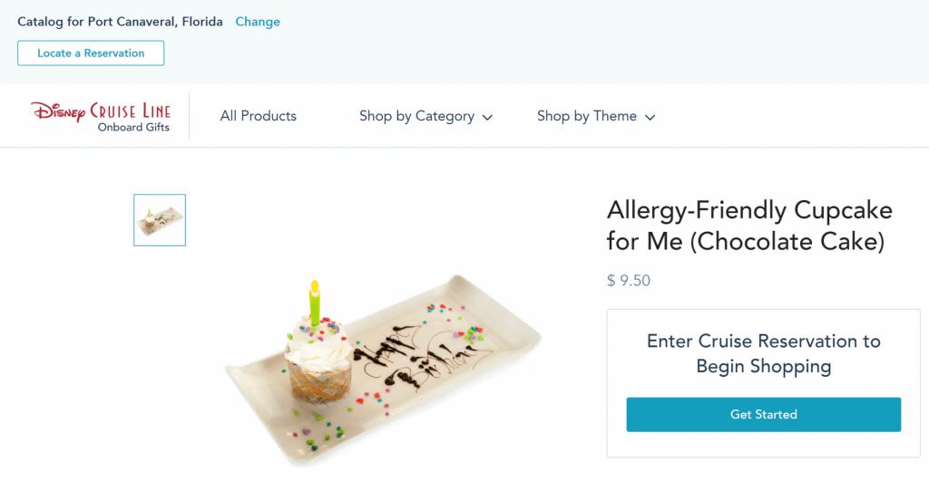 Vegan allergy-friendly Cupcake Disney Cruise Line