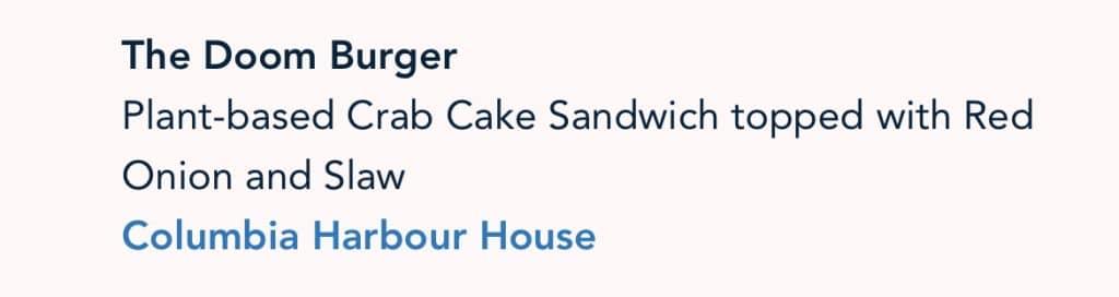 Vegan Vegan Burger Disney 50th