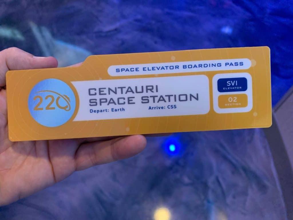 Space-220 elevator pass