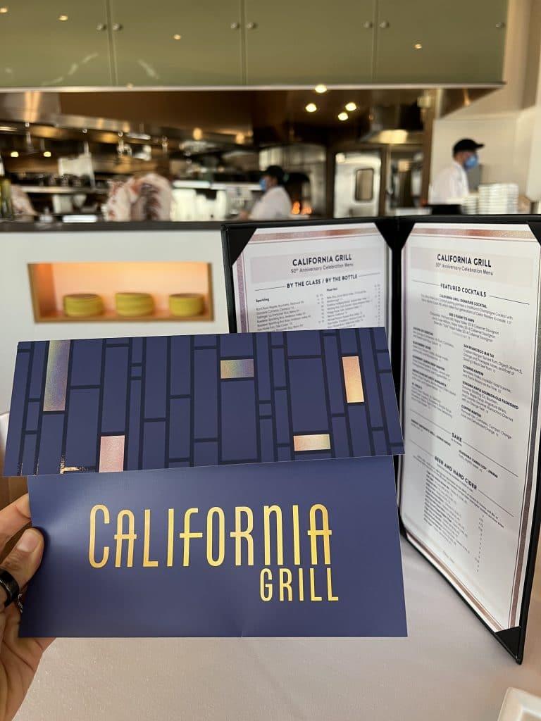 California Grill WDW 50th anniversary