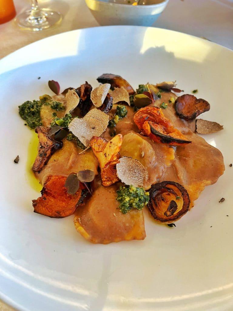 Vegan Menu California Grill WDW 50th anniversary mushroom ravioli