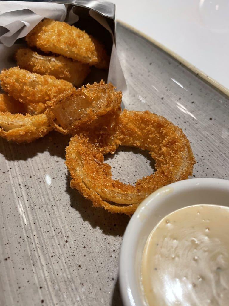 vegan onion rings Steakhouse 71