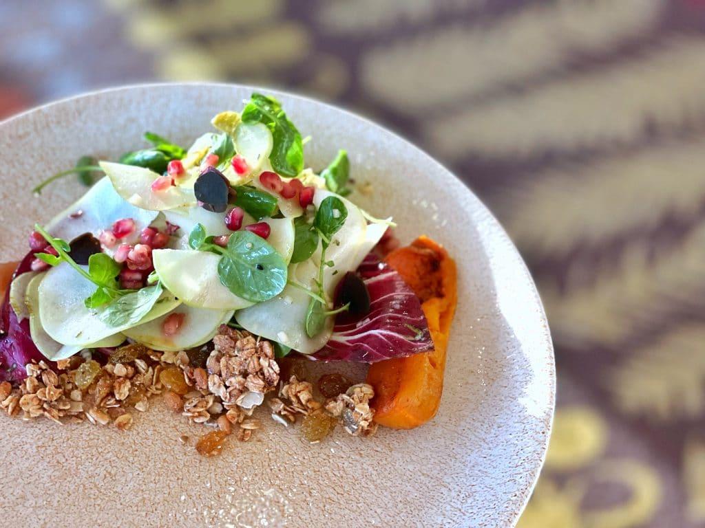 Vegan Menu California Grill WDW 50th anniversary heirloom apple salad